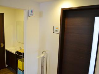 処置室隣のトイレ